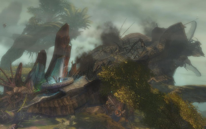 A Downed Airship in Verdant Brink.