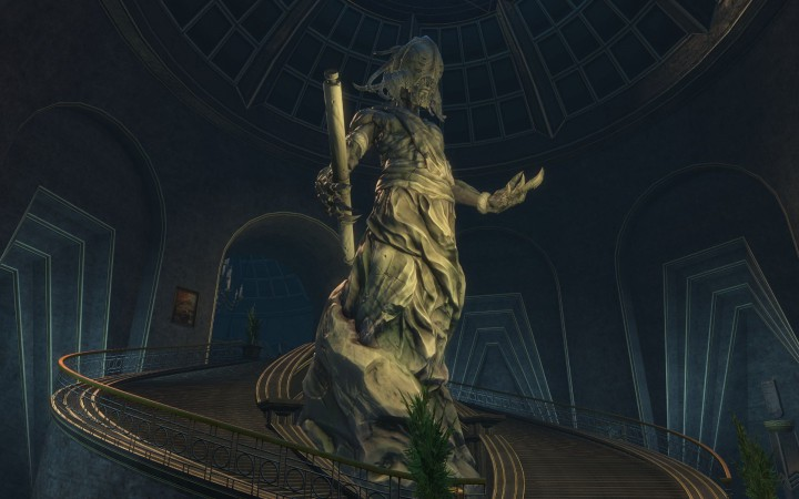 Guild Wars 2: Abaddon's Statue in the Durmand Priory Archives