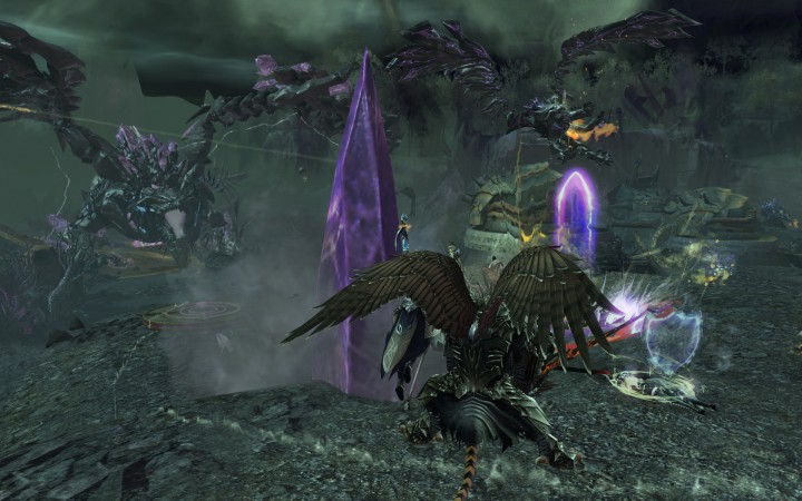 The Vigil forces battle against the Shatterer.