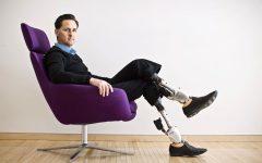 Professor Hugh Herr wearing his BiOMs