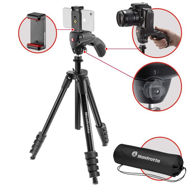 Black Manfrotto Advanced Tripod