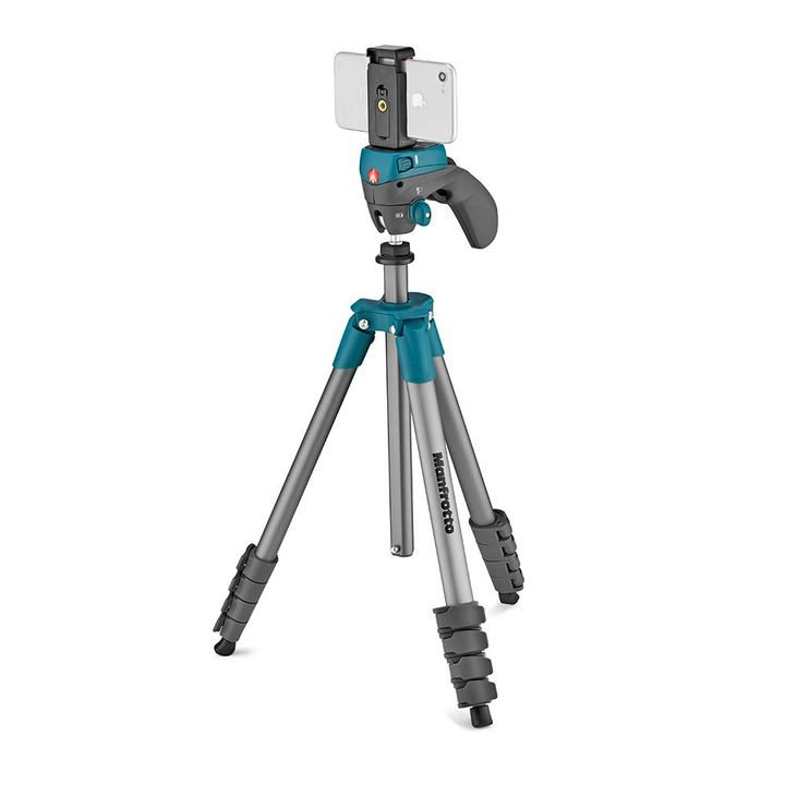 Blue Manfrotto Advanced Tripod